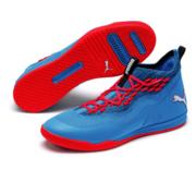 Puma Sharp Fuse - Miesten sisäpelikenkä sini-punainen 28666b7734