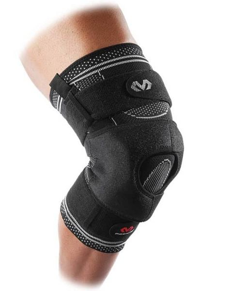 McDavid Elite Engineered Elastic Knee Brace With Dual Wrap And Hinges 5149R -polvituki tuplahihnoilla ja saranoilla